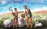 "Illustration for ""The Master Shepherd""."